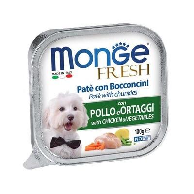 Monge Dog Fresh конс д/собак Курица с овощами 100 г