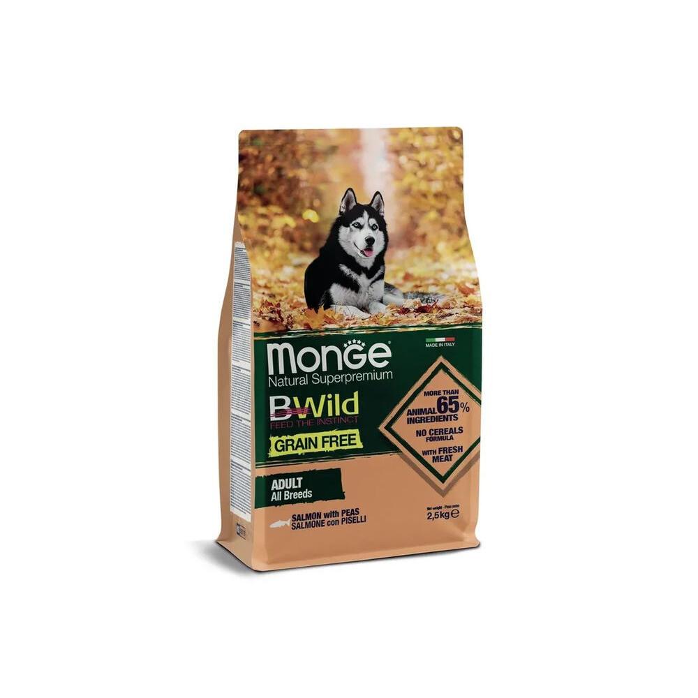 Monge Dog BWild GF беззерновой д/собак лосось 2,5 кг