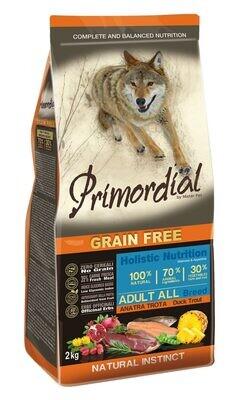 Primordial корм д/собак форель/утка 2 кг