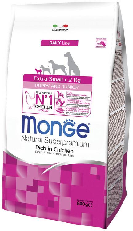 Monge Dog Extra Small Puppy д/щенков миниатюрных курица 800 г