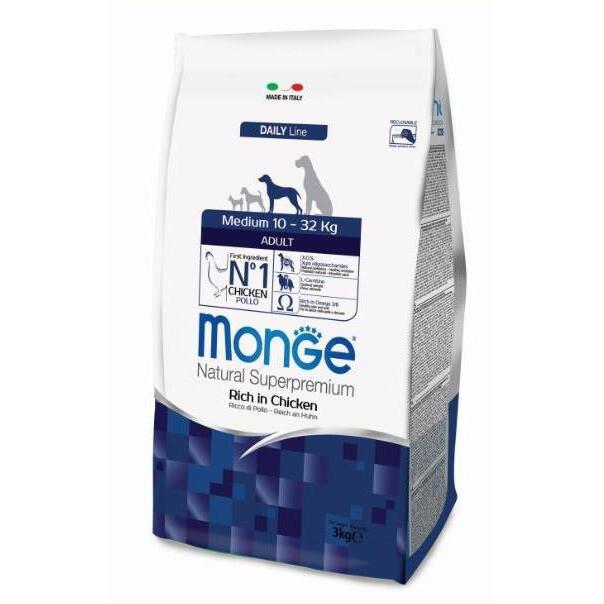 Monge Dog Medium Puppy д/щенков средних пород 3 кг