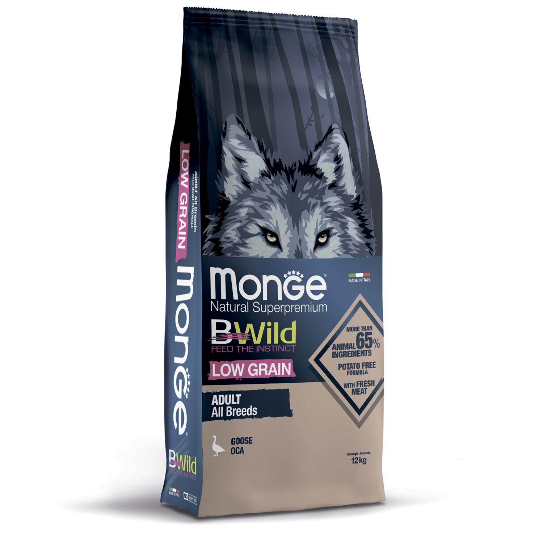 Monge Dog BWild LG малозерновой д/собак гусь 12 кг