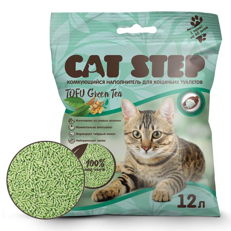 Наполнитель Cat Step Tofu Green Tea комкующийся 12 л
