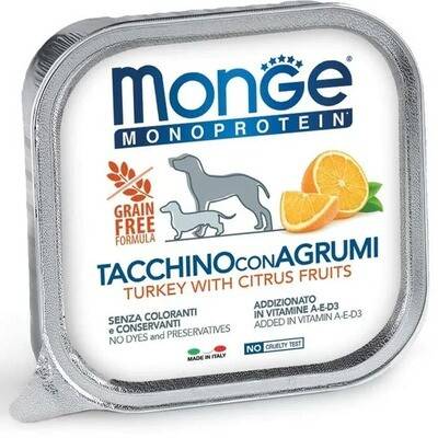 Monge Dog Monoprotein Fruits конс д/собак Индейка цитрусовые 150 г