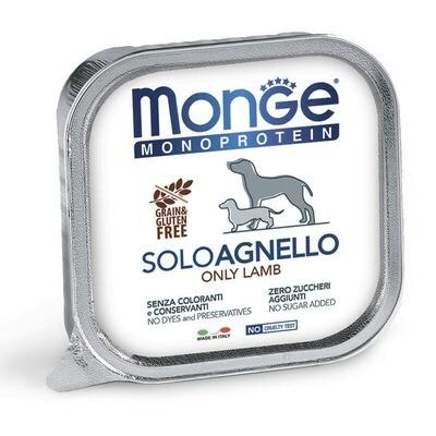 Monge Dog Monoprotein Solo конс д/собак Ягненок паштет 150 г