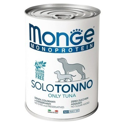 Monge Dog Monoprotein Solo конс д/собак Тунец паштет 400 г