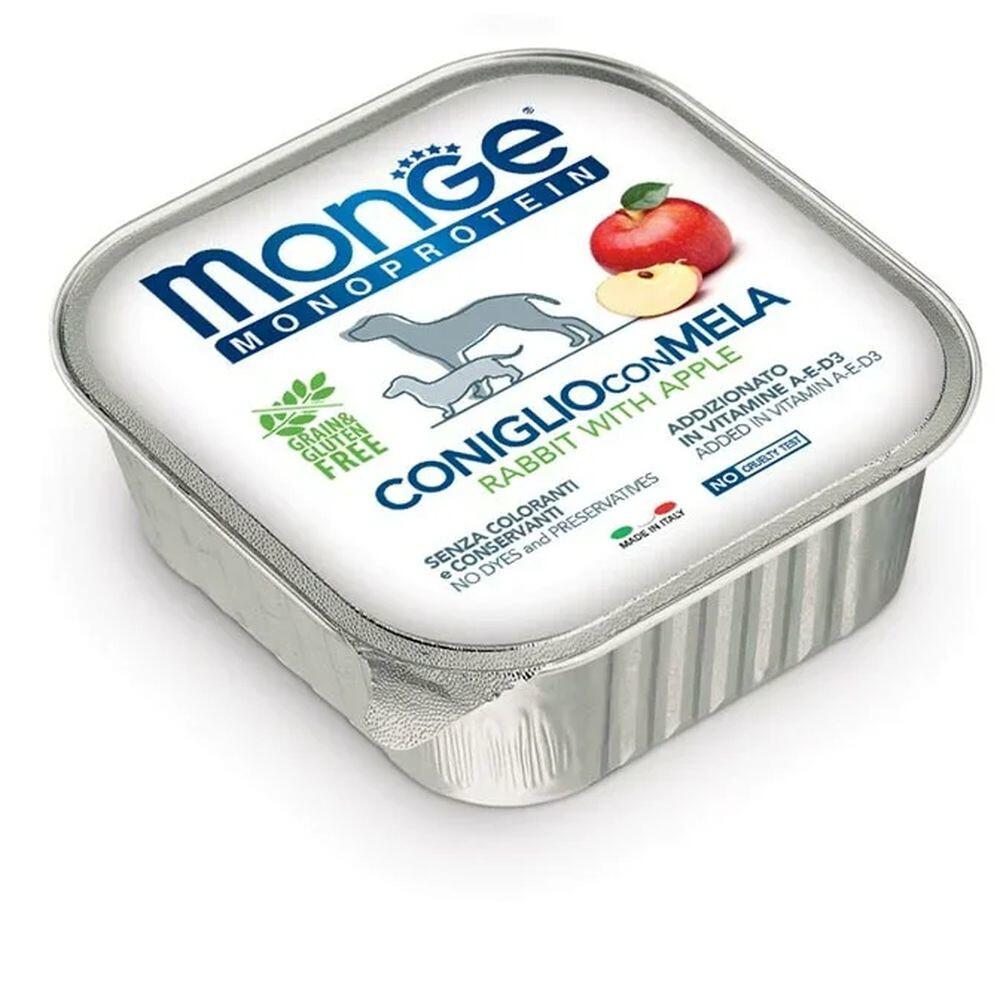 Monge Dog Monoprotein Fruits конс д/собак Кролик яблоки 150 г