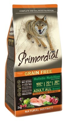 Primordial корм д/собак курица/лосось 2 кг