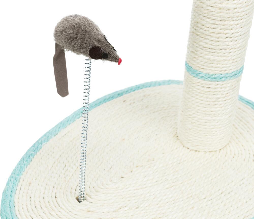 Когтеточка овальная на подставке 50 см с мышкой