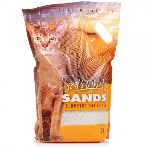 Наполнитель Savanna Sands без запаха комкующийся 3,8 кг