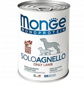 Monge Dog Monoprotein Solo конс д/собак Ягненок паштет 400 г