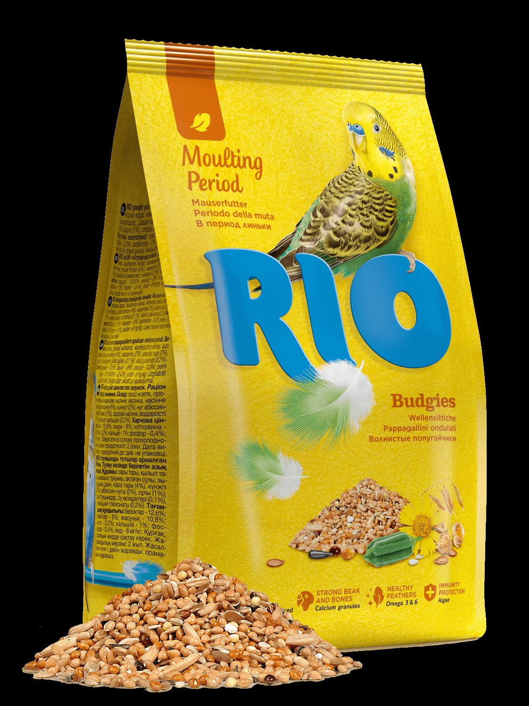 Рио корм д/волнистых попугаев период линьки 500 г