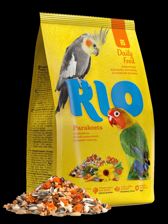 Рио корм д/средних попугаев 500 г