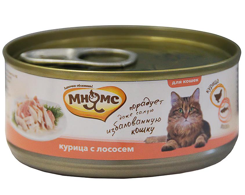 Мнямс конс д/кошек Курица с лососем в желе 70 г