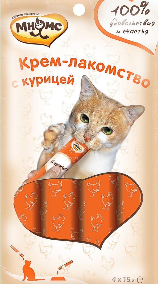 Мнямс Крем-лакомство д/кошек с курицей 4*15 г