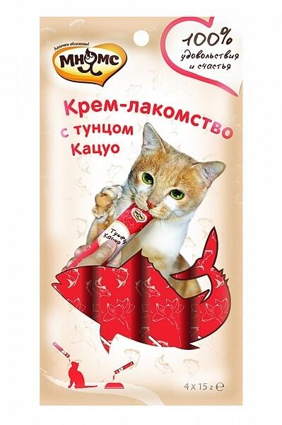 Мнямс Крем-лакомство д/кошек с тунцом Кацуо 4*15 г