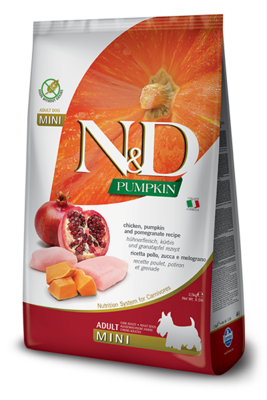 N&D Dog Pumpkin Mini д/собак мелких курица гранат 2,5 кг