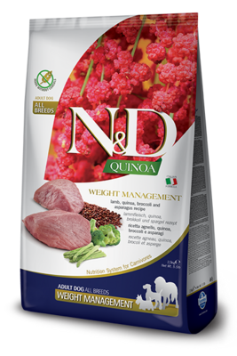 N&D Dog GF Quinoa Weight д/собак ягненок 2,5 кг