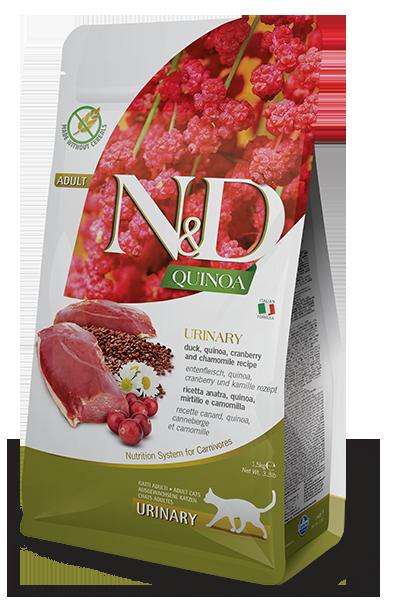 N&D Cat GF Quinoa Urinary д/кошек утка 1,5 кг