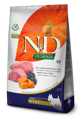 N&D Dog Pumpkin Mini д/собак мелких ягненок черника 2,5 кг