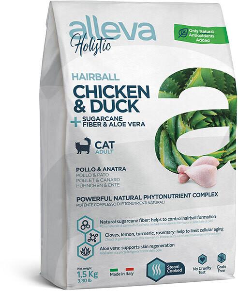 Alleva Holistic Cat Hairball Chicken & Duck д/кошек вывод шерсти 400 г