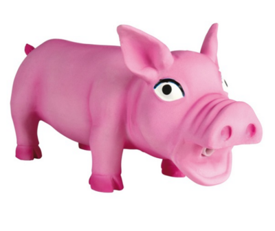 Игр д/собак Свинка хрюкающая 17 см латекс