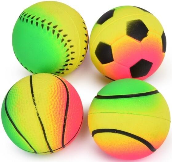 Игр д/собак Мяч радуга 6,3 см