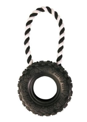 Игр д/собак Шина с веревочной ручкой 15 см 32 см резина