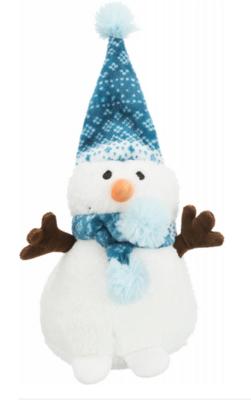 Игр д/собак Рождественская Снеговик 20 см плюш