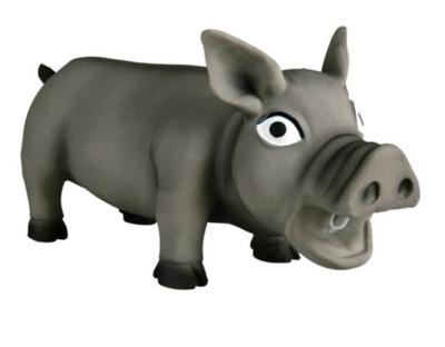 Игр д/собак Свинка хрюкающая 23 см латекс