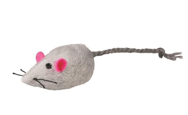 Игр д/кошки Мышь меховая 5 см с мятой