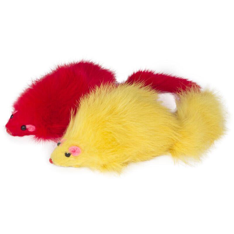 Игр д/кошки Мышь цветная 90-100 мм 2 шт