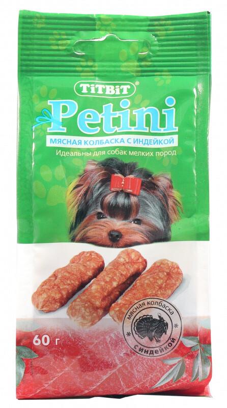 ТБ Колбаски Petini с индейкой 60 г