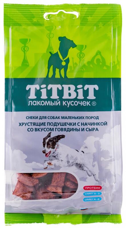 ТБ Хрустящие подущечки д/собак говядина 95 г