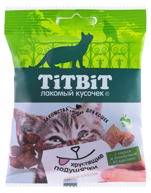 ТБ Хрустящие подушечки д/кошек кролик паштет 30 г