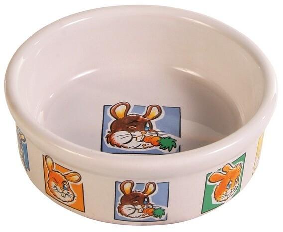 Миска керамическая д/кролика 300 мл 11,5 см