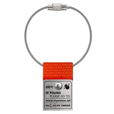 Таг для сумок, оранжевый