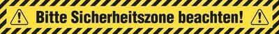 Boden- und Wandaufkleber | Sicherheitszone Streifen | 80 x 10 cm