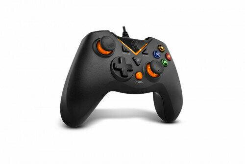 NOX NXKROMKEY mando y volante Gamepad Android,PC,Playstation 3 Analógico USB Negro