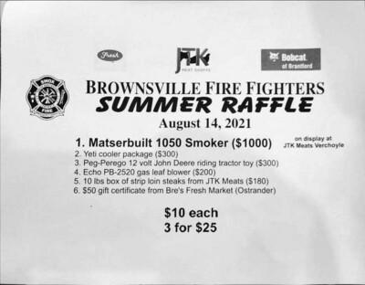 Brownsville Fire Fighters Summer Raffle