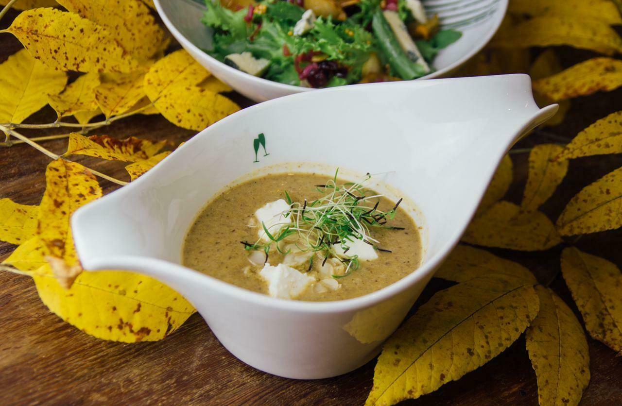 Баклажановый крем-суп з мигдалем