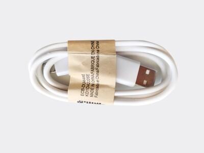 Кабель для зарядки Micro USB - USB белый 1 метр