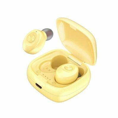 Наушники беспроводные bluetooth TWS Dual-Pass XG12 цвет желтый