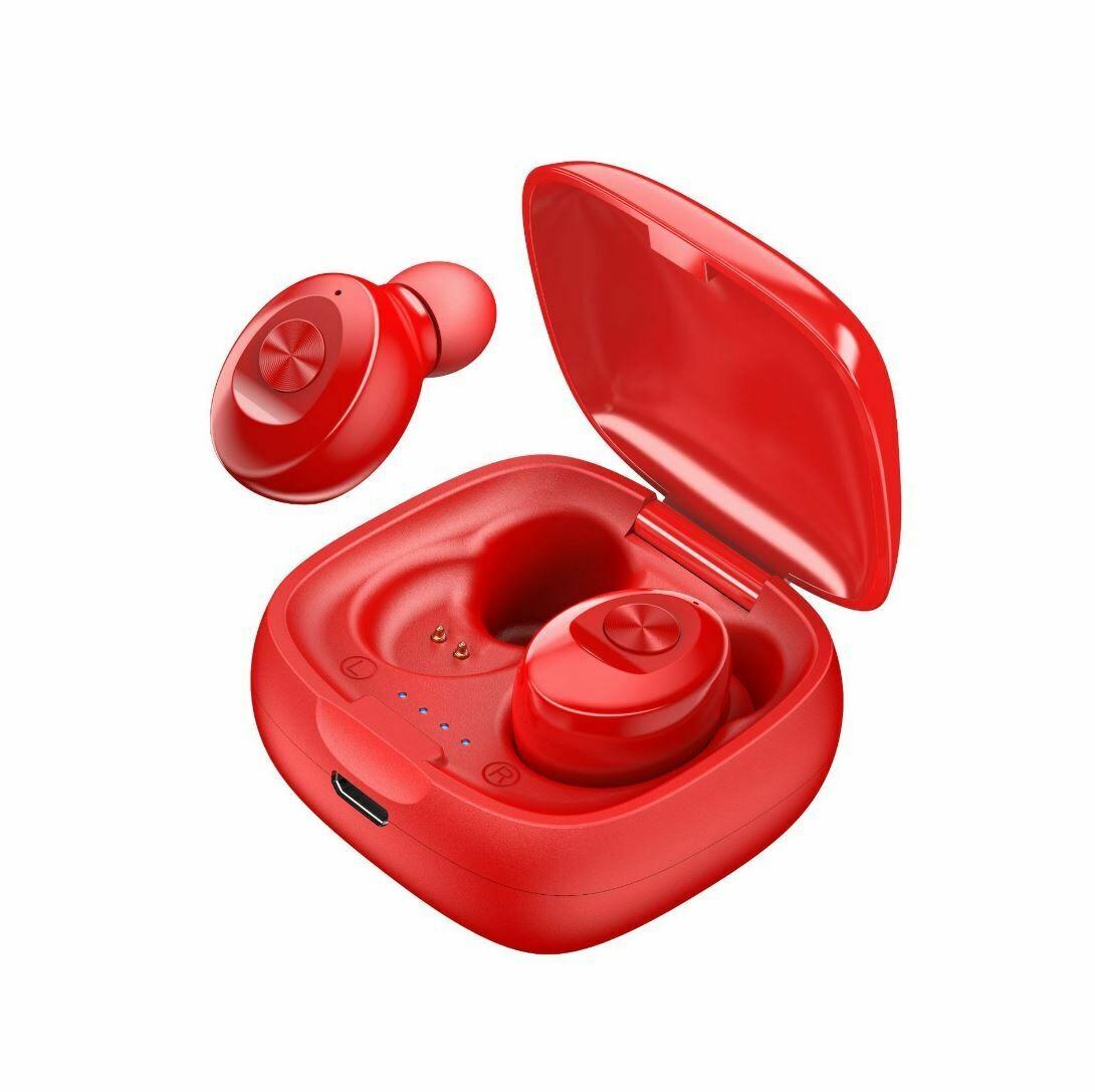 Наушники беспроводные bluetooth TWS Dual-Pass XG12 цвет красный