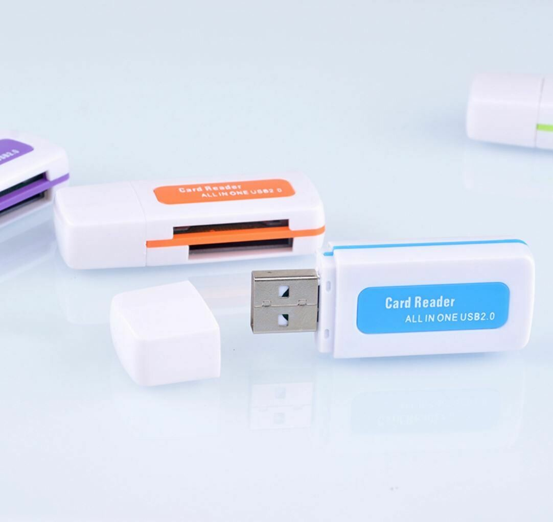 Картридер USB - считыватель TF, SD карт памяти