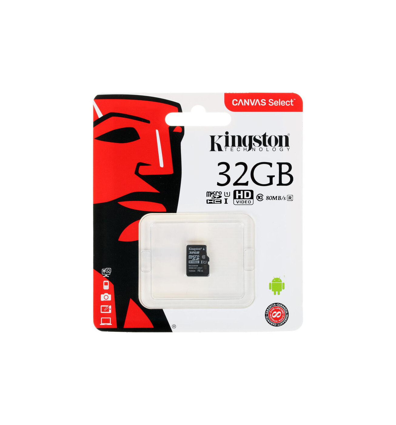 Карта памяти Kingston Canvas Select Plus microSDHC 32 ГБ
