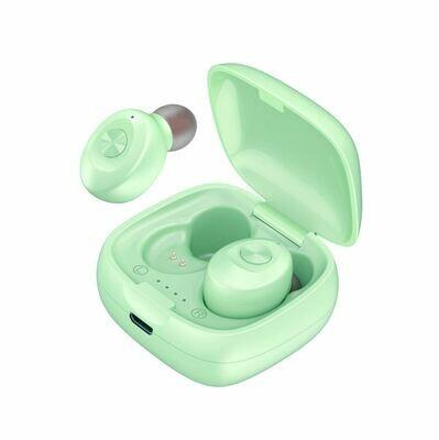 Наушники беспроводные bluetooth TWS Dual-Pass XG12 цвет зеленый