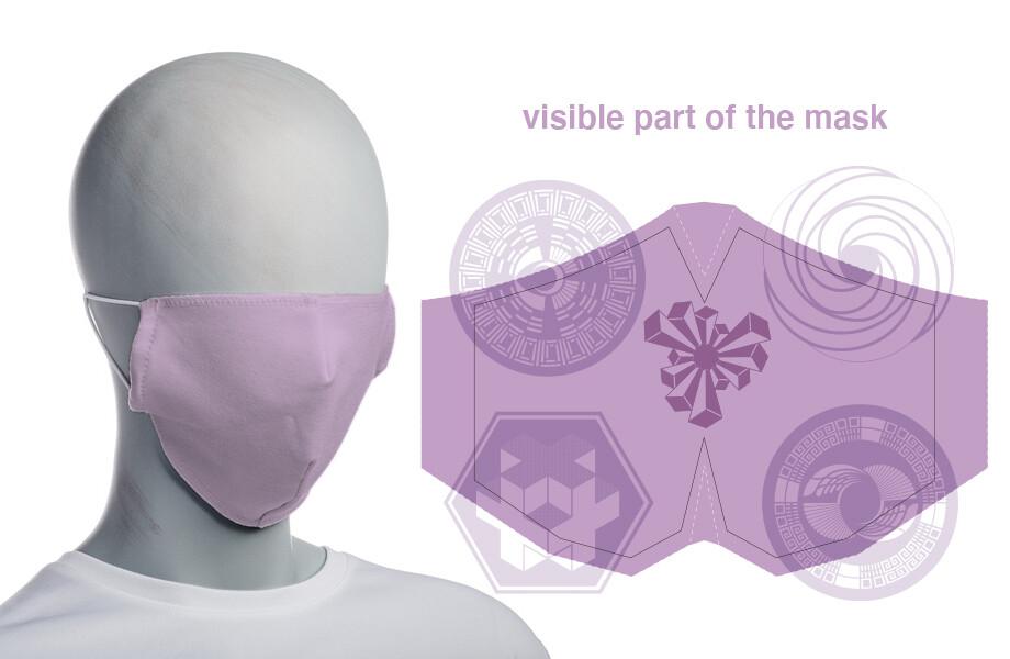 face mask lilac (non surgical)