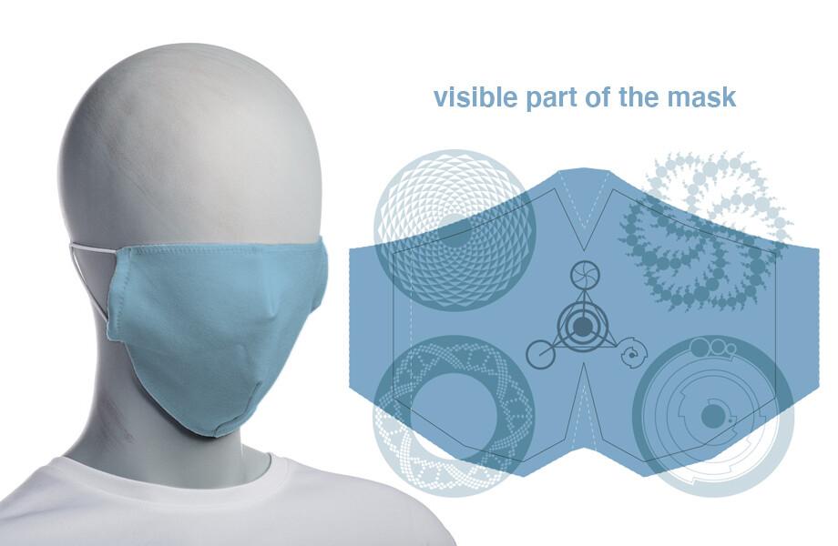 face mask blue (non surgical)