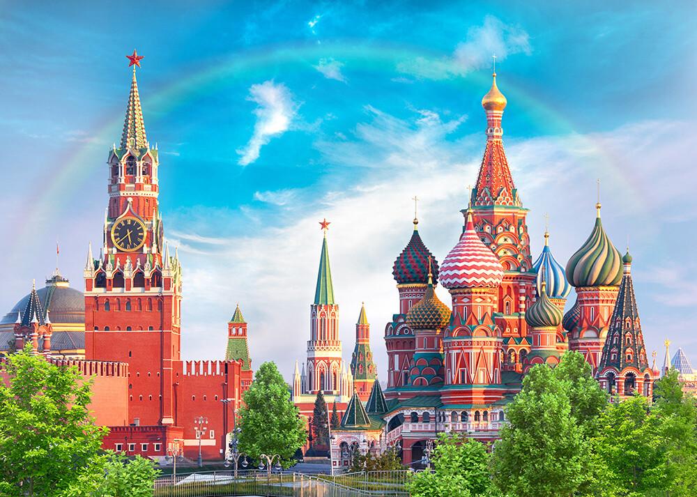 Фотообои  (бумага) 8 листов  272Х194см СЕРДЦЕ РОССИИ